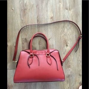 Handbags - Muted Red faux leather purse